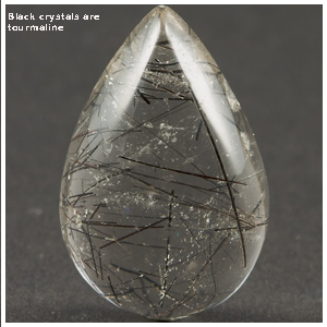 black tourmaline quartz