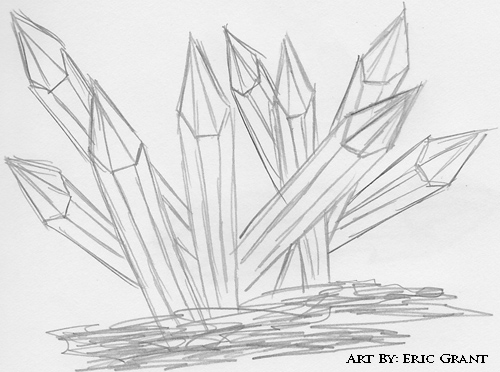 Crystal Cluster Drawing Quartz crystals explainedQuartz Crystals Drawing