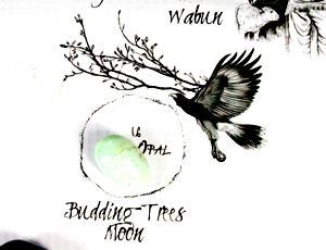 Budding Trees Moon Crystal on Medicine Wheel