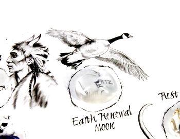 Earth Renewal Moon and Crystal on Medicine Wheel