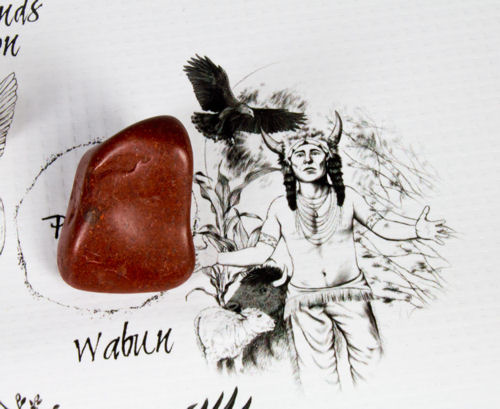 Wabun Spirit Keeper of the East Wind Crystal on The Native American Medicine Wheel