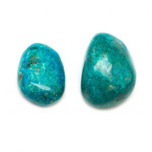 Malachite Chrysocolla Extra Large Tumbled Stone Pair-0