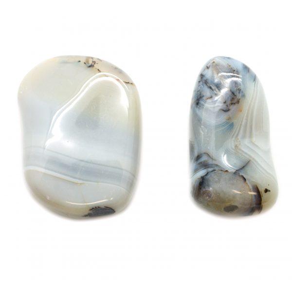 Pair Agate Aura Stone - medium-67486