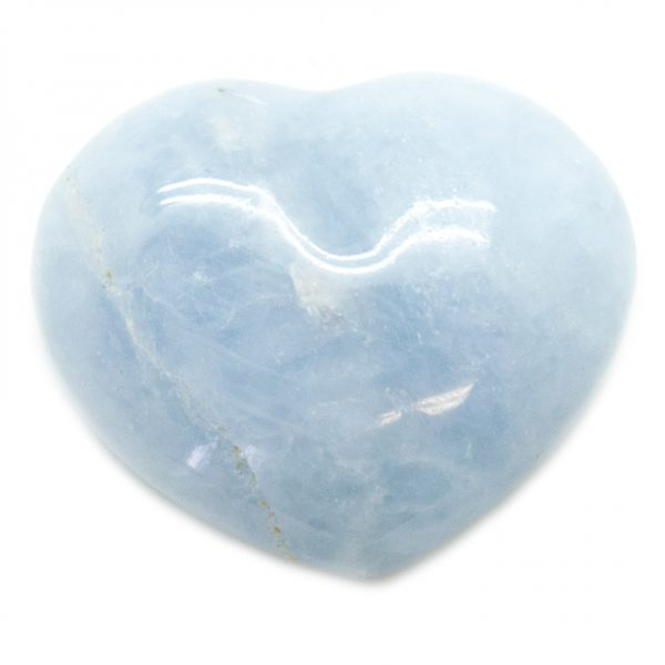 Blue Calcite Heart-67623