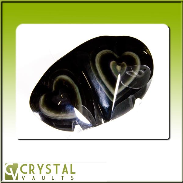 Rainbow Obsidian Double Heart-0