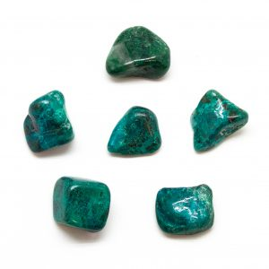 Chrysocolla Tumbled Stone Set (Medium)-0