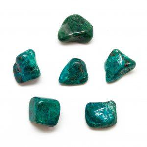 Chrysocolla Tumbled Stone Set (Medium)-0