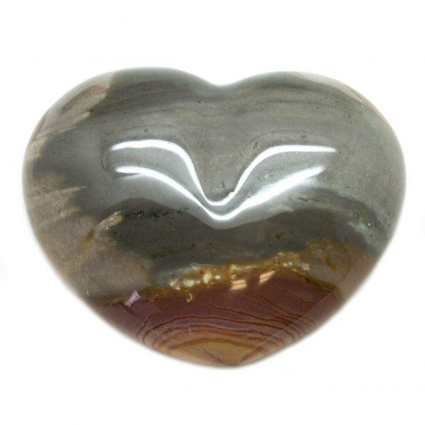 Polychrome Jasper Heart-0