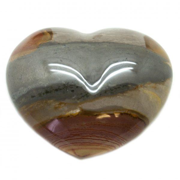 Polychrome Jasper Heart-67063