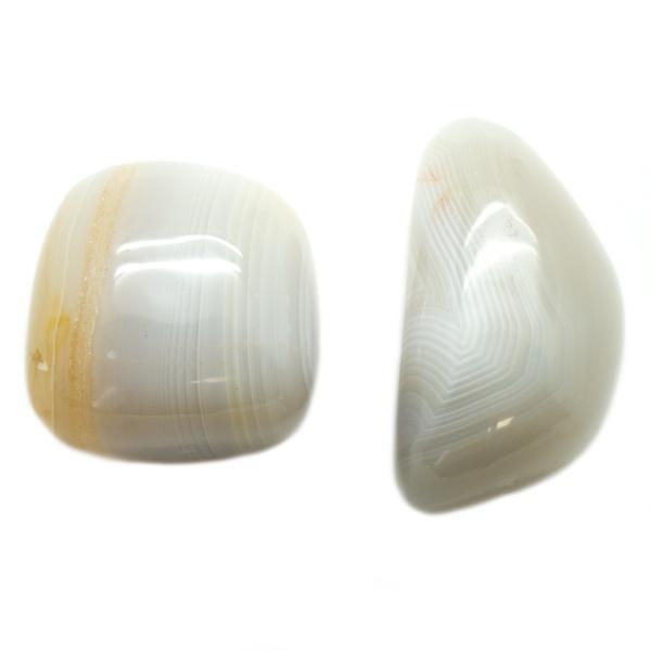 Pair Agate Aura Stones - small-67490