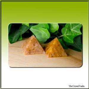 Golden Quartz Pyramid-0