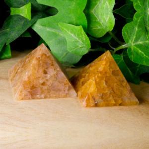 golden quartz pyramid