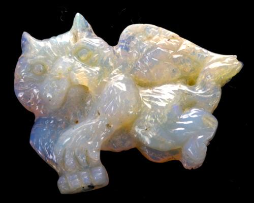 Large Opal Flying Cat-13891