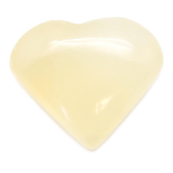 White Calcite Heart-0