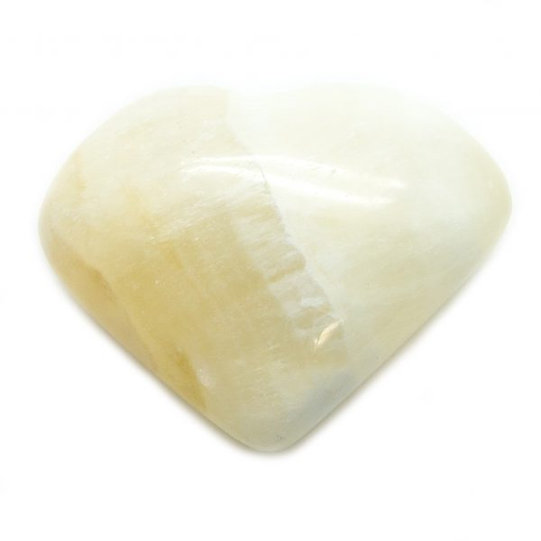 White Calcite Heart-67678