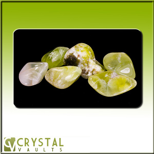 Prehnite with Scolecite Tumbled Set(XL)-0