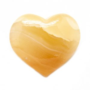Honey Calcite Heart-0