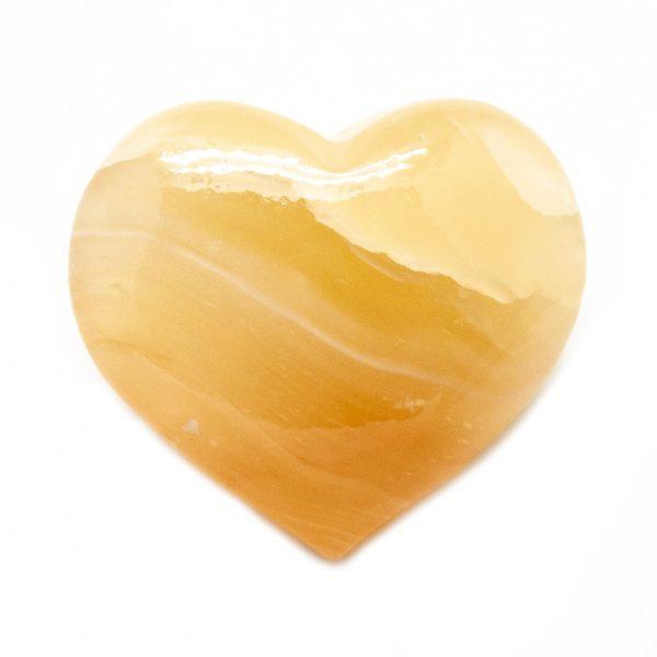 Honey Calcite Heart-0