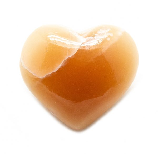 Honey Calcite Heart-207315