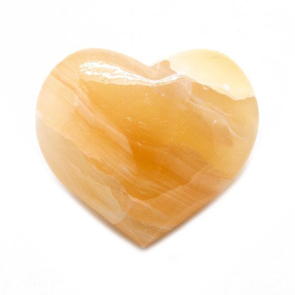 Honey Calcite Heart-207316