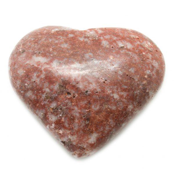 Red Banded Jasper Heart-75078
