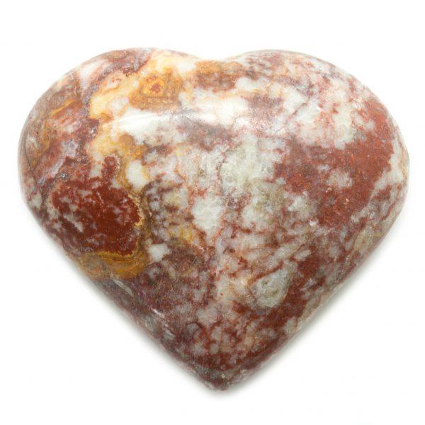 Red Banded Jasper Heart-75077