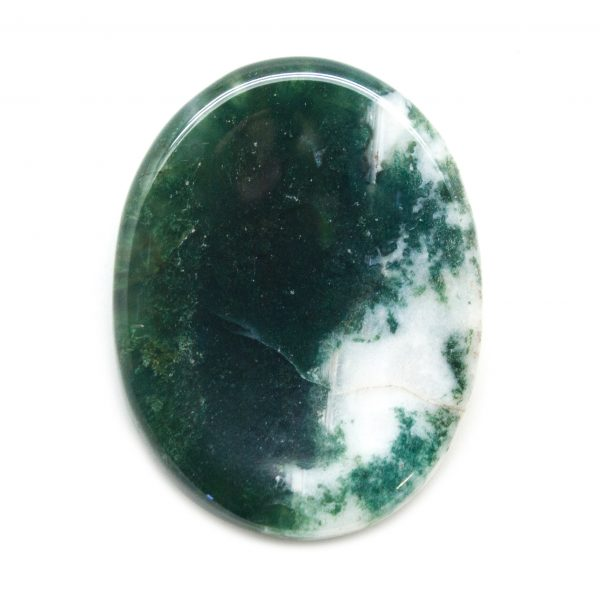 Moss Agate Worry Stone-139860