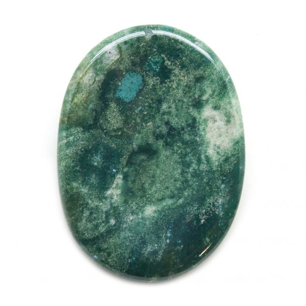 Moss Agate Worry Stone-139859