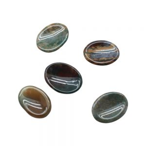 Moss Agate Worry Stone-0