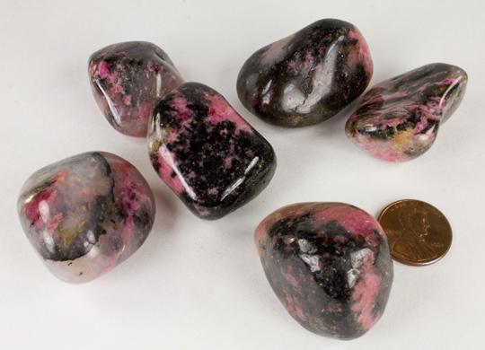 Rhodonite Tumbled Stones (XL.)-30326