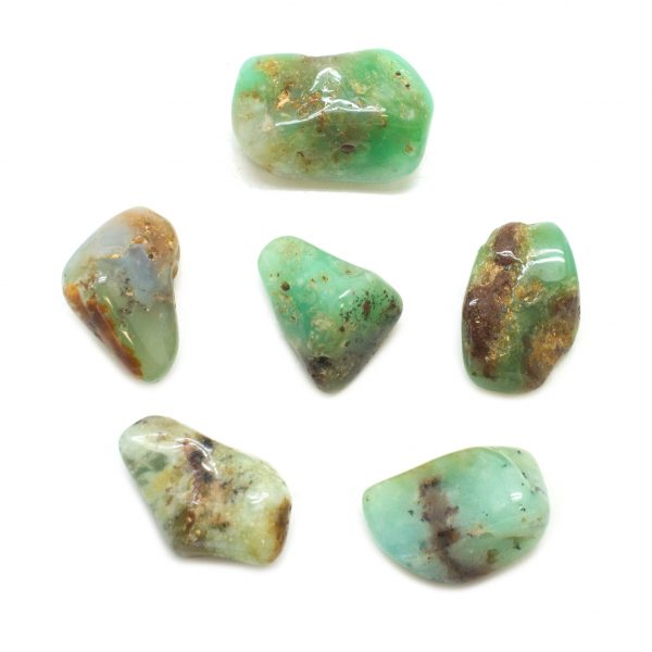 Mercury Aligned Chrysoprase (set of six)-142032