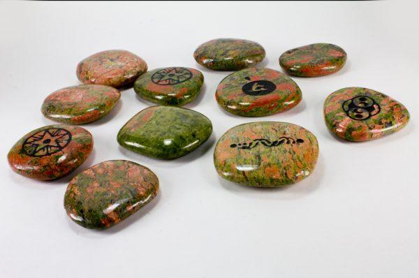 Unakite Palm Stone-35115