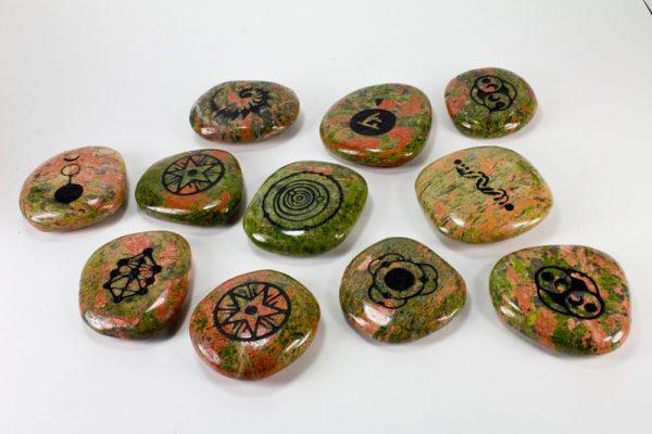 Unakite Palm Stone-35116