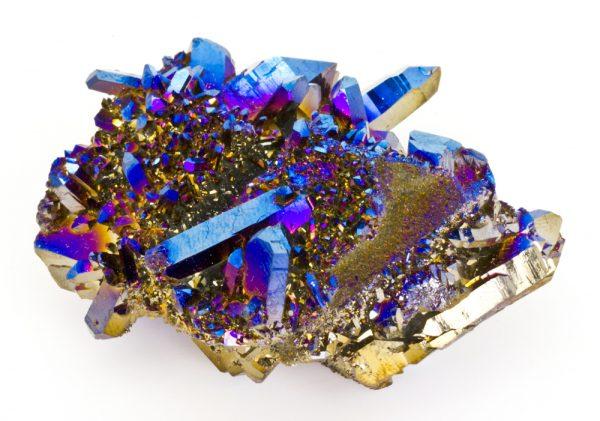 Titanium Cobalt Blue Quartz Cluster-45144
