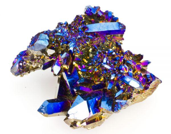 Titanium Cobalt Blue Quartz Cluster-45143