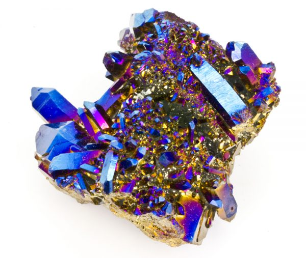 Titanium Cobalt Blue Quartz Cluster-0