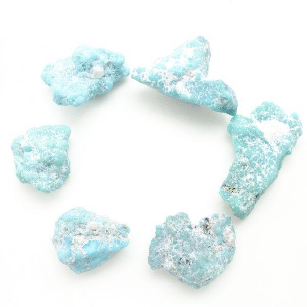 Medium Whitewater Teal Turquoise Tumbled Stone-46090