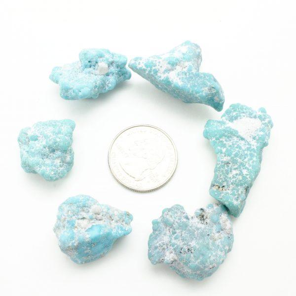 Medium Whitewater Teal Turquoise Tumbled Stone-46089
