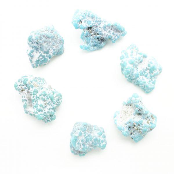 Large Whitewater Teal Turquoise Tumbled Stone-46099