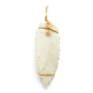 White Arrowhead Pendant-0