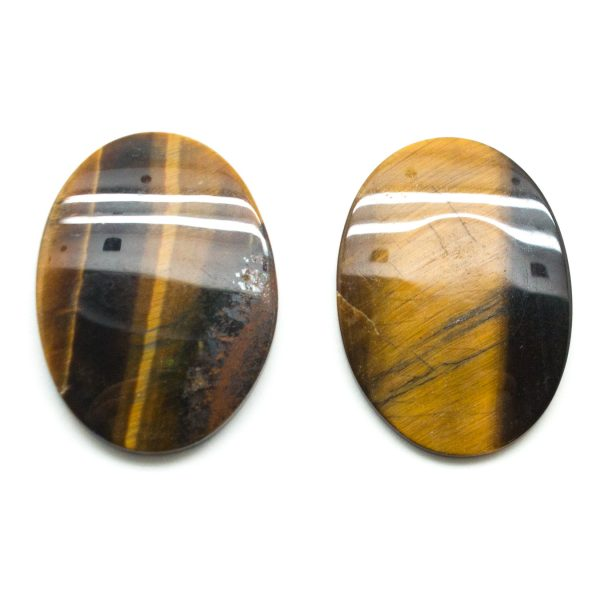 Tiger's Eye Oval Cabochon Pair-0