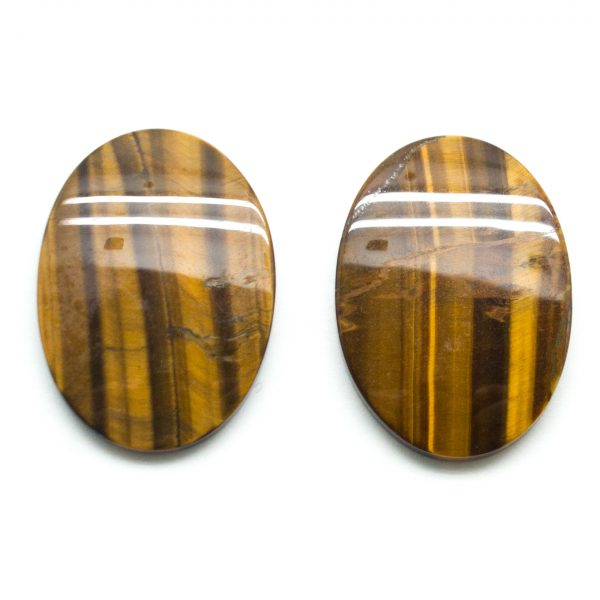 Tiger's Eye Oval Cabochon Pair-79145