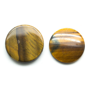 Tiger's Eye Round Cabochon Pair-0
