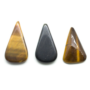 Tiger's Eye Teardrop Cabochon Set-0