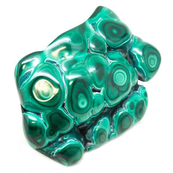 Polished Malachite Crystal-83727