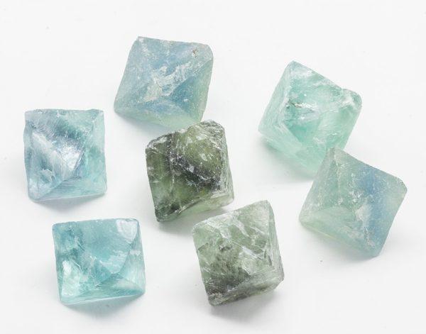 Green/Blue Fluorite Octohedron-0