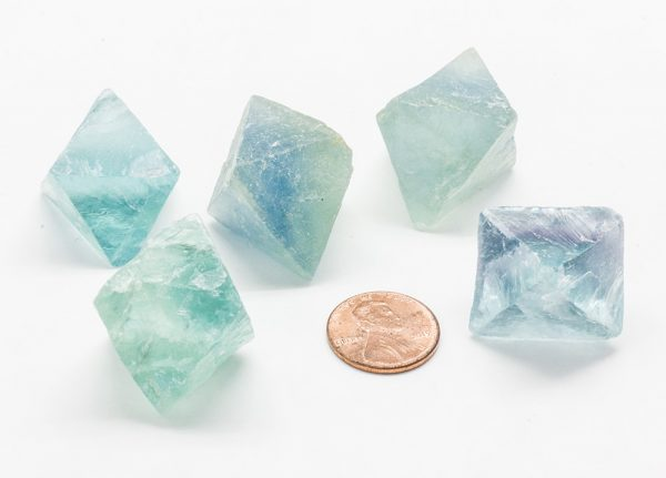 Green/Blue Fluorite Octohedron-83444