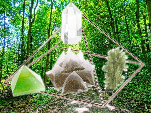 Moldavite, Green Aventurine, & Quartz Tea for Good Fortune-0