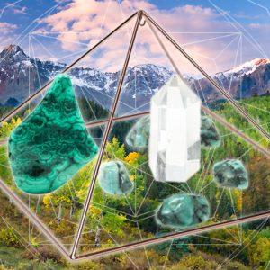 Emerald, Malachite, and Quartz Tea for Healing the Heart-0