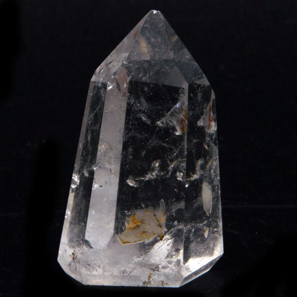 Polished Channeling Quartz Point Pair with Timeline to the Future-84795